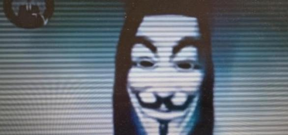 Foto: Videobotschaft Anonymous an Israel.