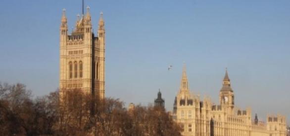 Parliament:  seat of British government.
