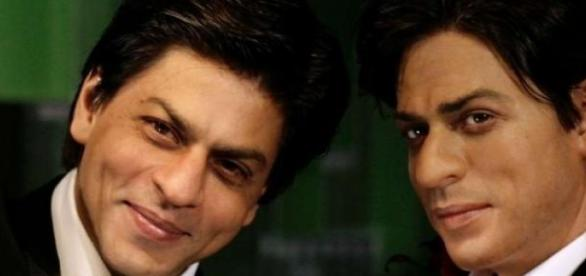 The actor with his wax statue at Madame Tussauds