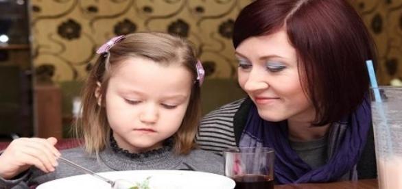 Elvált anyuka a kislányával