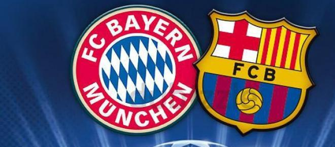 Jogo da segunda mão entre Bayern e Barcelona