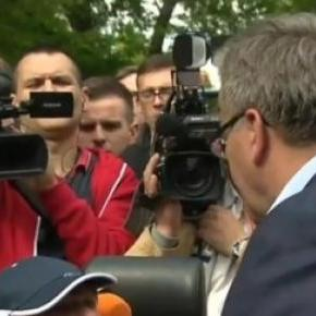 Spotkania z wyborcami są trudne (print scrn TVN24)