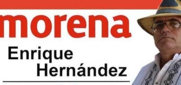 A pesar de amenazas Enrique Hernández en campaña.