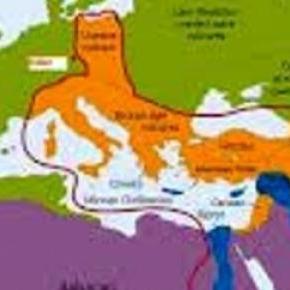 mapa - Europa i Afryka, problem emigracji