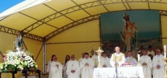 Aspecto da Celebração da Missa Campal .