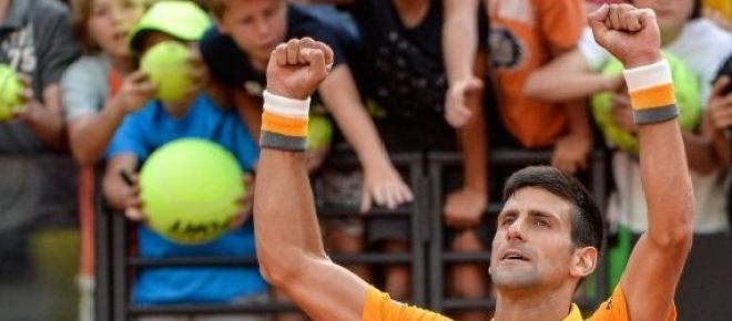 Djokovic celebra su victoria