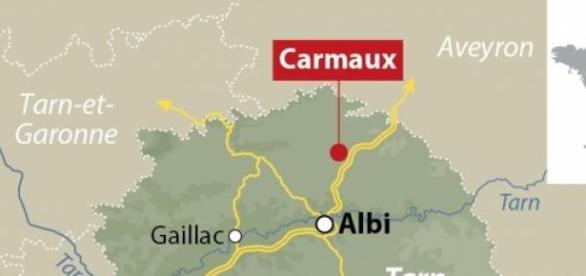 La fusillade a eu lieu à Carmaux dans le Tarn