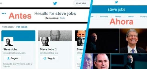Nueva interfaz de Twitter por categorías