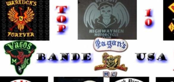 Logo-urile celor mai periculoase bane din SUA