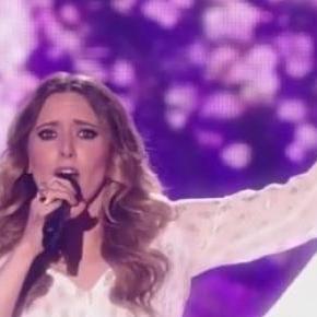 Monika Kuszyńska na scenie konkursu Eurowizji