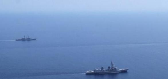 El Mar del Sur de China, aviones