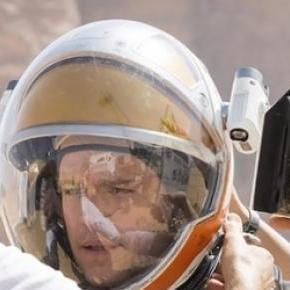 Matt Damon Mark Whatney-ként A marsi forgatásán.
