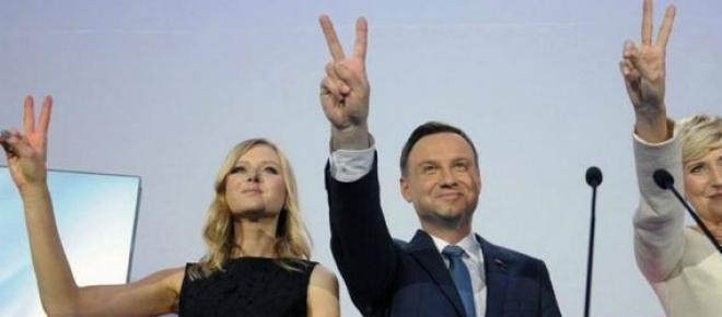 Andrzej Duda w czasie wieczoru wyborczego 2015