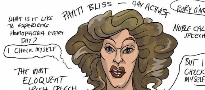Panti Bliss spoke about homophobia at the abbey Theatre Dublin