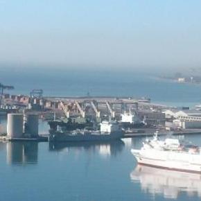 Málaga kikötő (Andalúzia, Spanyolország)