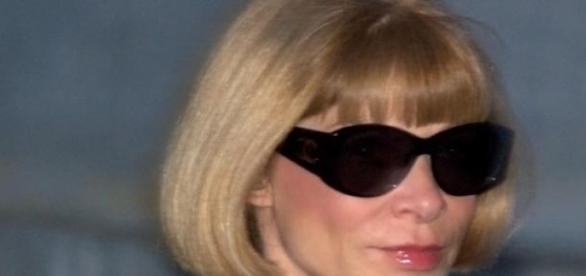 Anna Wintour - mit modischer Brille ...