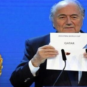 Joseph Blatter announcing Qatar as host of 2022 WC