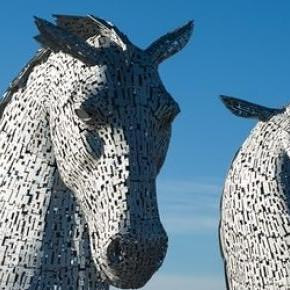 The Kelpies in Falkirk, Scotland