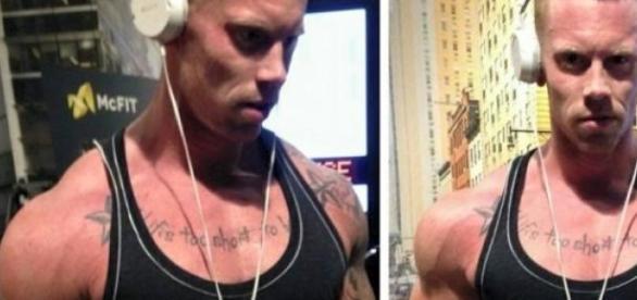 Durch sein Training baut Steffen Muskelmasse auf.