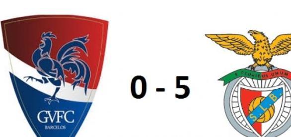Gil Vicente contra Benfica: 0-5