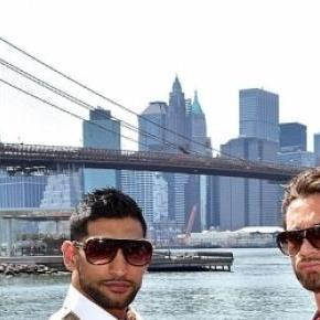 Amir Khan defeated Chris Algieri in New York