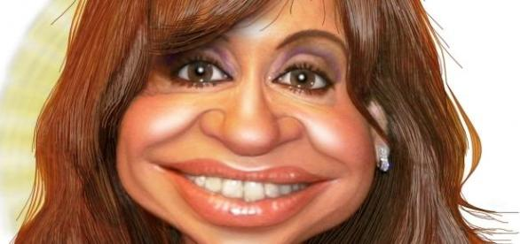 Caricature: C.F de Kirchner présidente d'Argentine