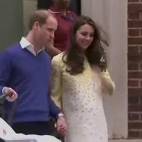 Książę William i księżna Kate z córką