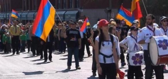 Les Montréalais ont marché en mémoire du génocide.