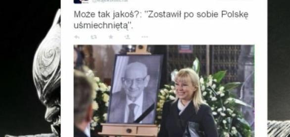 Zdjęcie Bieńkowskiej - brak słów (fot.Twitter)