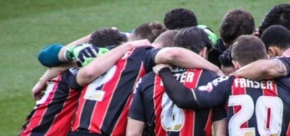 Os jogadores do Bournemouth antes de um jogo