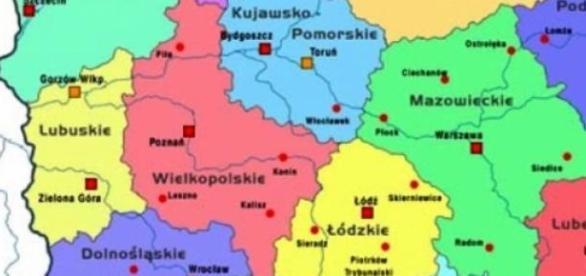 Polska - mapa samorządowa