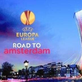 Liga Europa na sua fase final rumo a Amesterdão.
