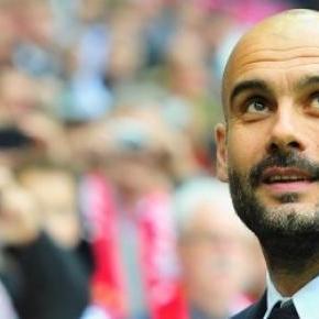 Pep Guardiola en un partido con el Bayern