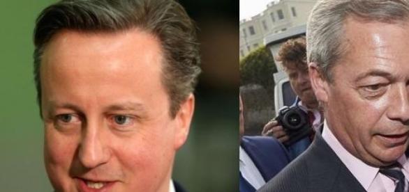 David Cameron i Nigel Farage.