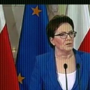 Ewa Kopacz ogłasza dymisje ( print scrn TVPInfo)