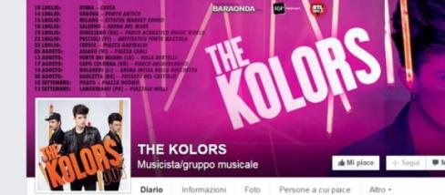 Tour estivo The Kolors. ecco le tappe
