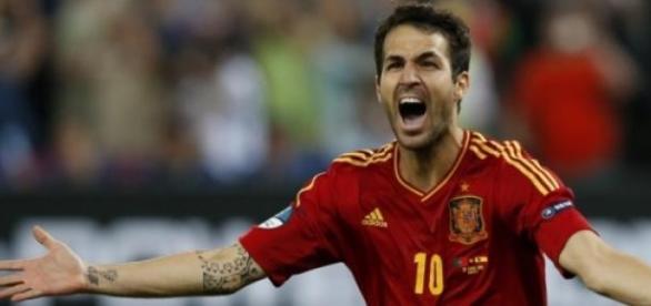 Cesc Fabregas wielokrotnie strzelał dla Hiszpanii