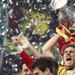Obrońcy tytułu Mistrza Europy, Hiszpanie.