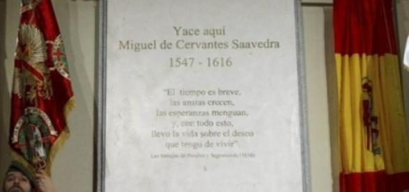 Надгробие Мигеля де Сервантеса