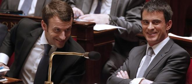 Macron et Valls côte à côte