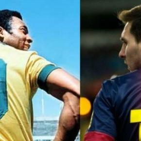 Pelé e Messi: dois históricos números 10