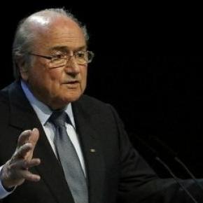 Sepp Blatter auf einer Pressekonferenz