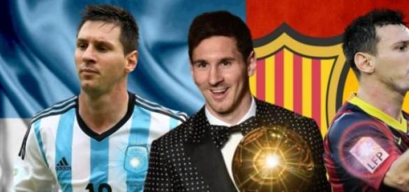 Messi w barwach Albicelestes i FC Barcelony.