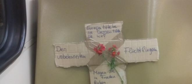 Gedenken den toten Flüchtlingen. Hier in Hannover