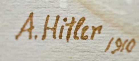 Las pinturas de Hitler ascienden a 3000 piezas