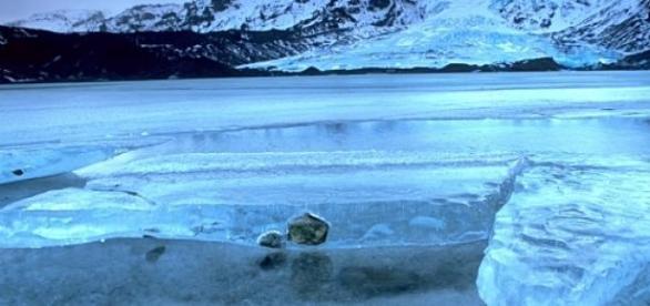 Один из крупнейших ледников Исландии