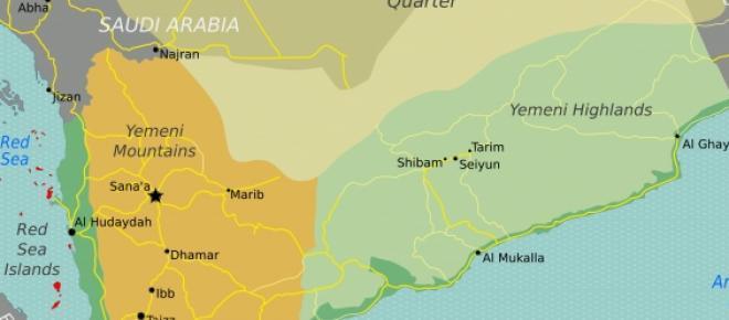<p>Bild von Wikimedia Commons. https://upload.wikimedia.org/wikipedia/commons/8/84/Yemen_regions_map.png</p>