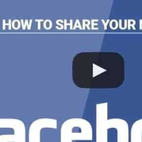Como partilhar os seus artigos no Facebook.