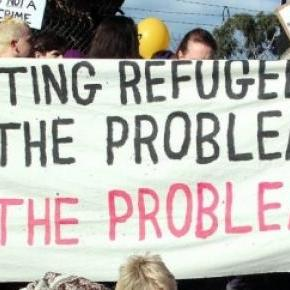 Rally for refugees in Melbourne, Australia