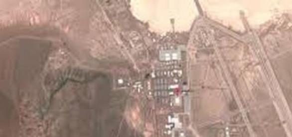 vista aérea de la base militar